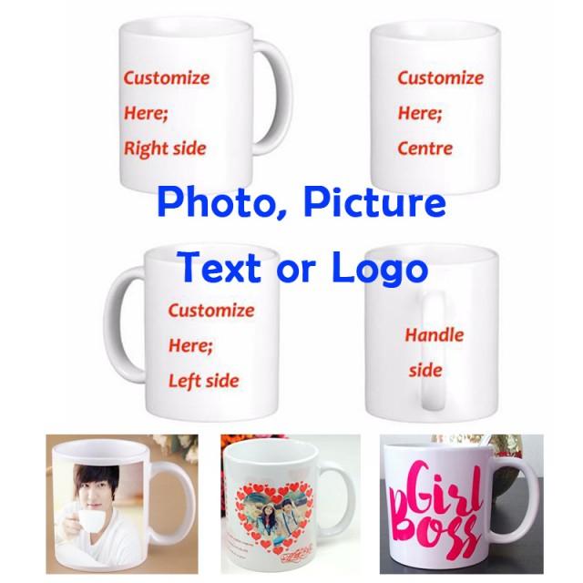 подарочная кружа с печатью картинок или посланий на заказ