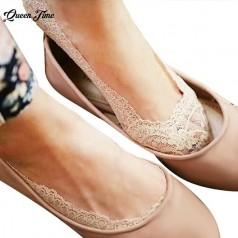 Летние противоскользящие кружевные носки для женщин
