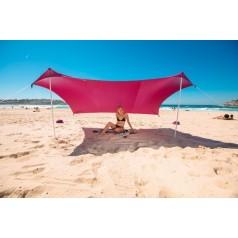 легкий пляжный шатер с якорными мешками для песка