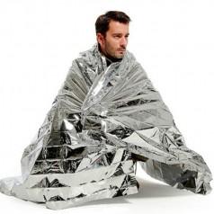 аварийное спасательное одеяло из фольги