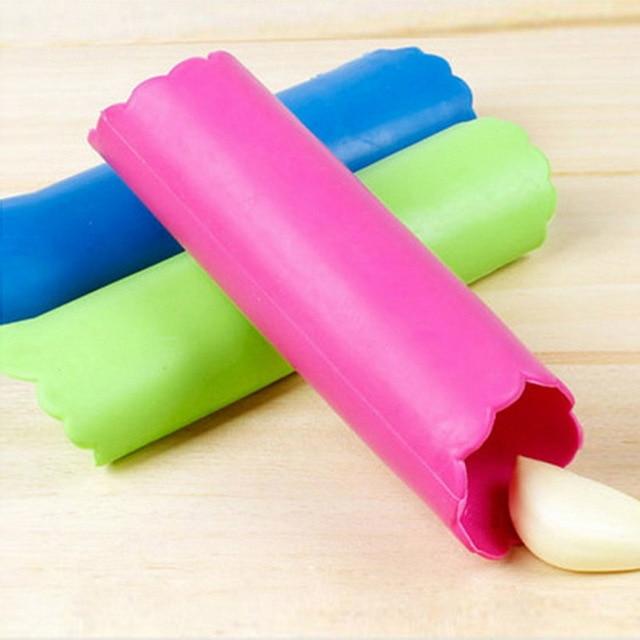 силиконовая трубочка для быстрой чистки чеснока