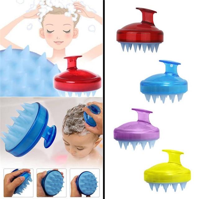 мягкая силиконовая щетка для мытья головы
