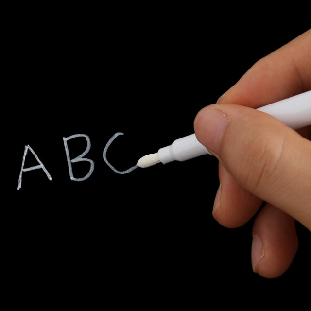 белый маркер «жидкий мел»