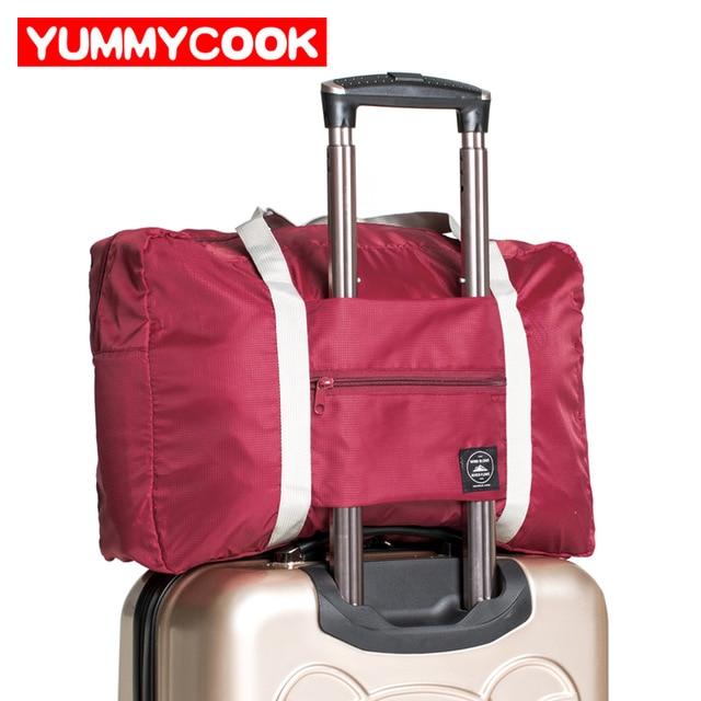 дорожная сумка с крепежным карманом на кронштейны багажной тележки