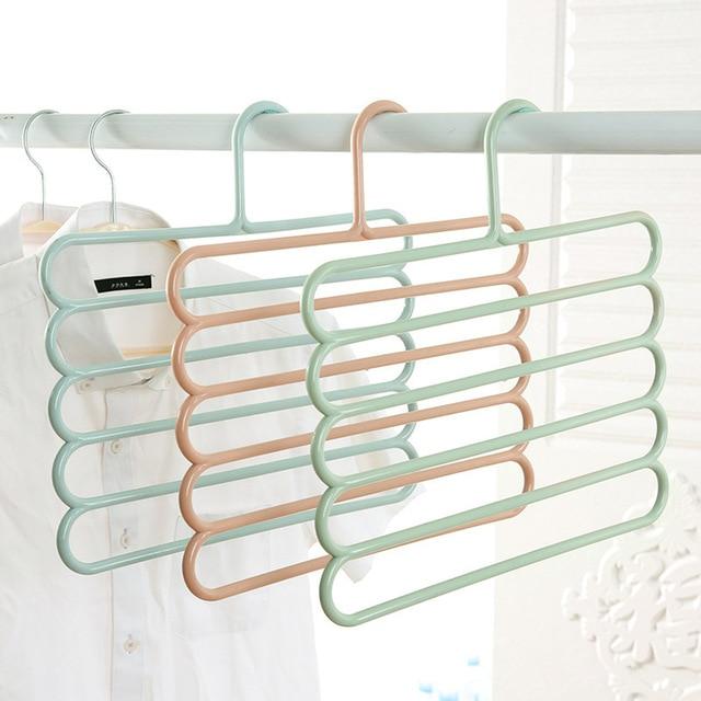 мультивешалка для развешивания одежды в 5 слоев