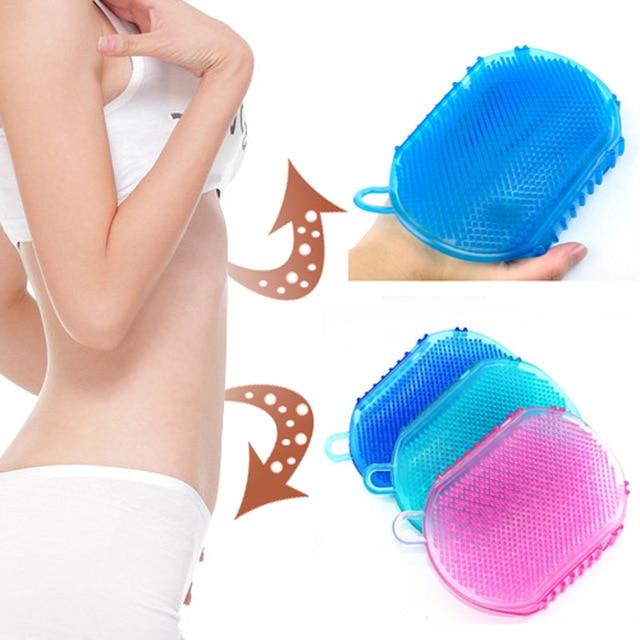 Мягкий силиконовый массажный скраб-пилинг для тела