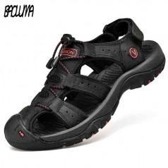 летние мужские кожаные сандалии BAOLUMA