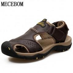 летние мужские кожаные сандалии MECEBOM