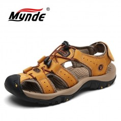летние мужские кожаные сандалии Mynde