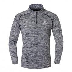 теплая спортивная мужская рубашка с длинным рукавом