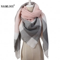 женский теплый зимний шарф