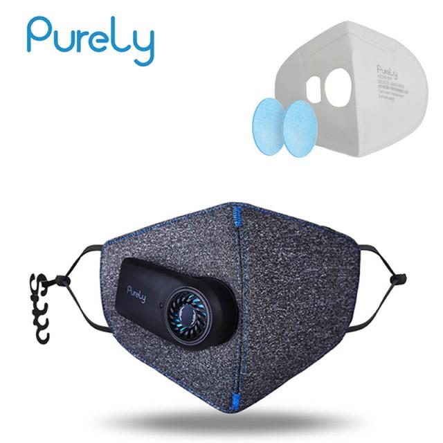 защитная дыхательная маска Xiaomi с принудительной подачей воздуха и сменными