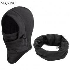 теплая флисовая ветрозащитная шапка-балаклава