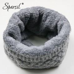 теплый флисовый шарф «колечком»