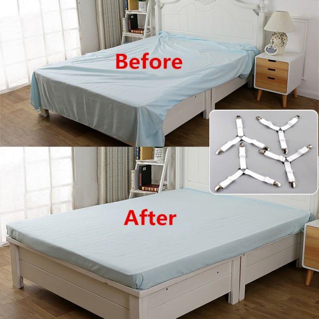 3-точечные крепежи для постельного белья 4 шт. комплект